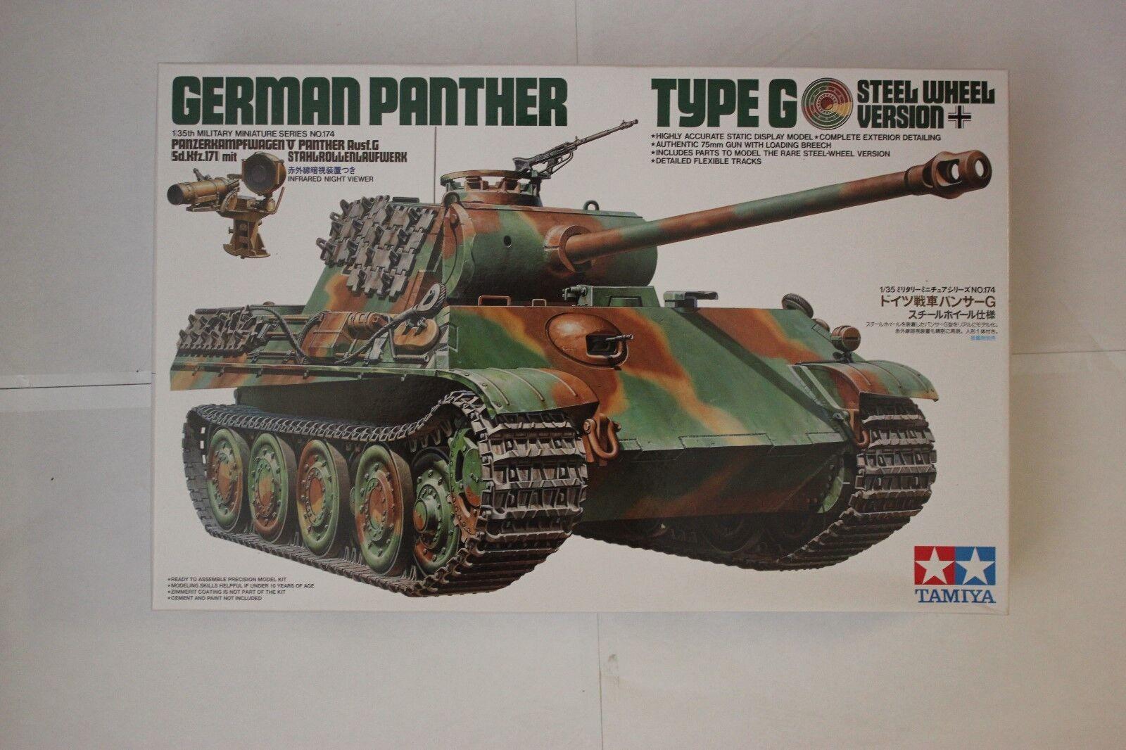Tamiya 35174 German Panther Type G Steel Wheel Version 1 35 Scale
