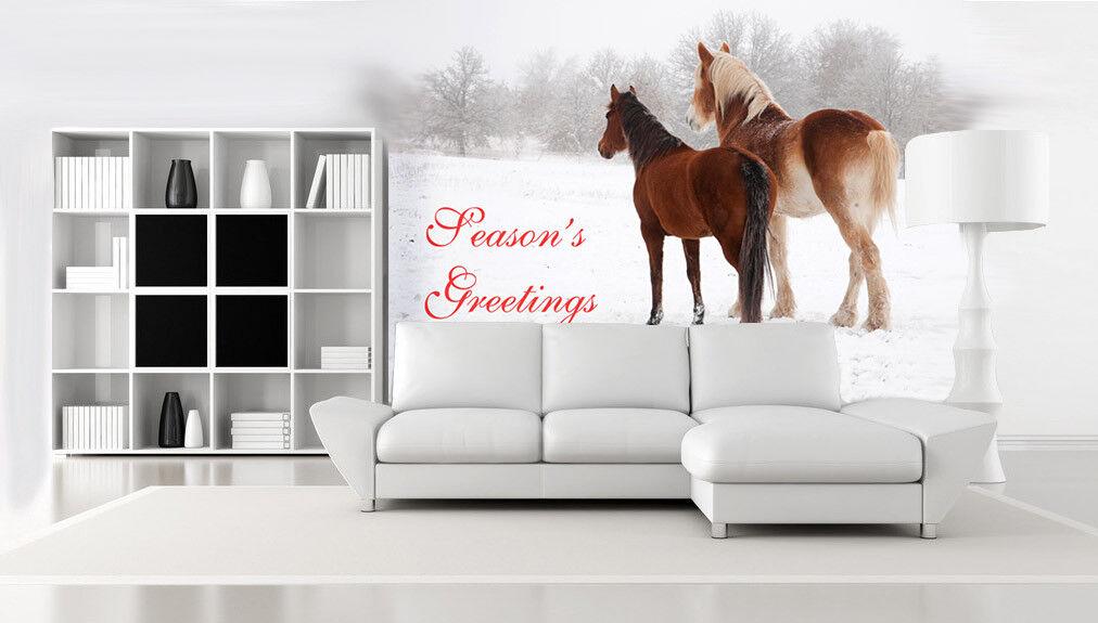 3D Schnee Zwei Pferde 7 Tapete Wandgemälde Tapete Tapeten Bild Familie DE Summer | Feinen Qualität  | Outlet Online  | Umweltfreundlich