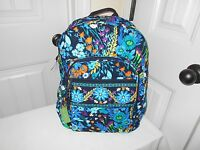 Vera Bradley Midnight Blues Campus Backpack With Tags Free Shipping