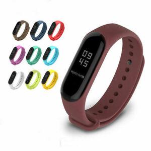Silicon-Wrist-Strap-WristBand-fit-XIAOMI-MI-Band-3-Bracelet