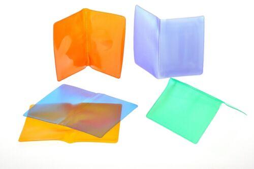 Portatessere-card fototessere in plastica opalino 2 tasche colori vari 50 pezzi