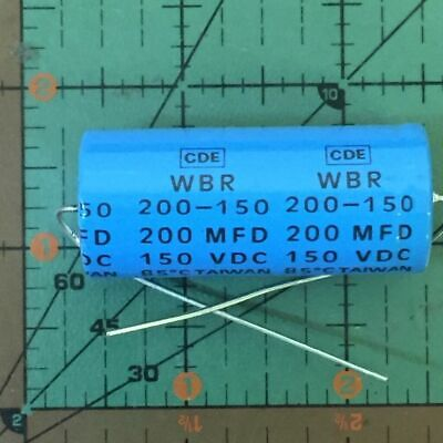 Cornell Dubilier Axial Capacitor 200uF 50v WBR200-50  Audio Free Ship 4pcs