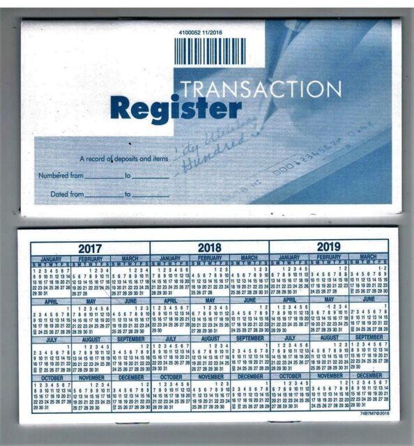 deluxe checking checkbook transaction register ebay