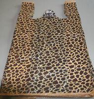 50 Leopard Print Plastic T-shirt Bags W/handles 8 X 5 X 16 Gift Party Retail