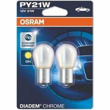 verchromte Glühlampe blau 12 V Volt 21 W Watt Diadem Birne Blinkerlampe gelb