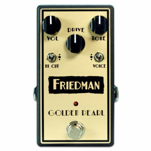 New Friedman Golden Pearl Transparent Low Gain Overdrive Guitar Effects Pedal