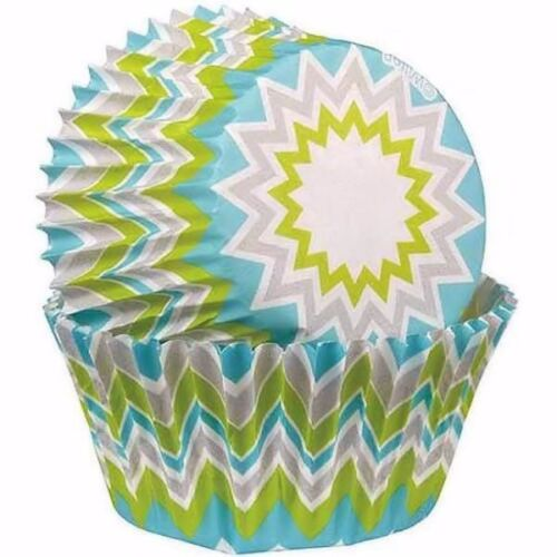Chevron Lime Baking Cups 75 ct from Wilton 8066 NEW