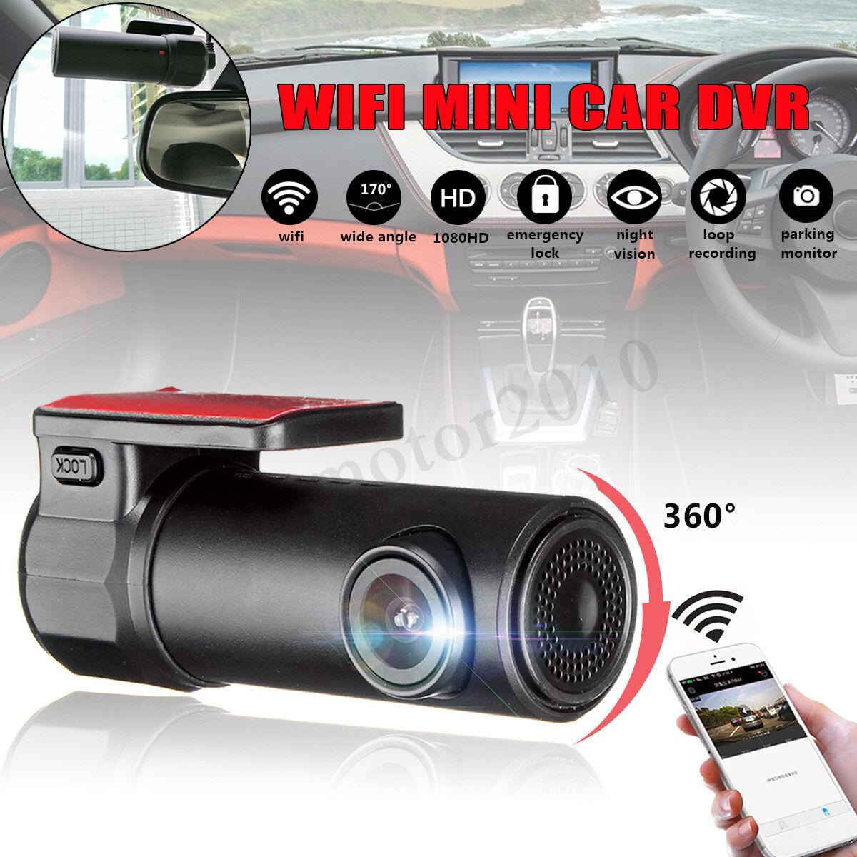 Car 1080P 170° FHD DVR Dash Dashboard Cam Camera Video Recorder WiFi Hidden CA