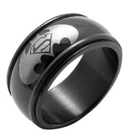 Ring Stainless Steel Batman Symbol Party Superman Ring, Available In Size 8-13