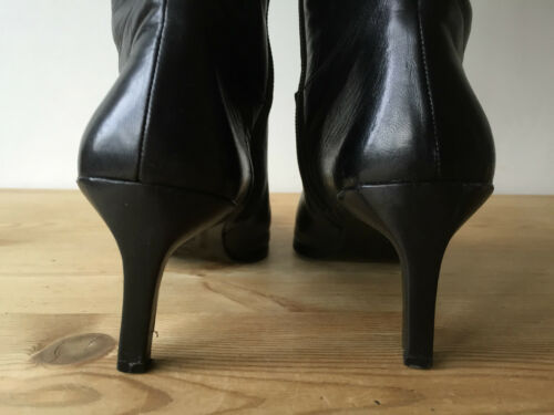Uk4 gli pelle alta Ladies Ginocchio nera Habille stivali in sopra Taqz07Twx