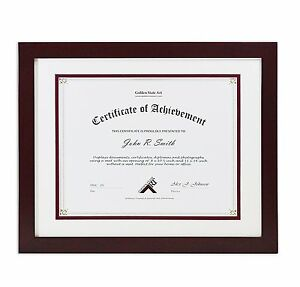 Document Certificate Diploma 11x14 Wood Frame With Double