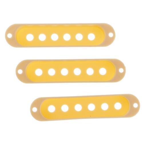 3pcs Creme Single Coil Pickup Cover für Fender ST Gitarre Ersatzteile