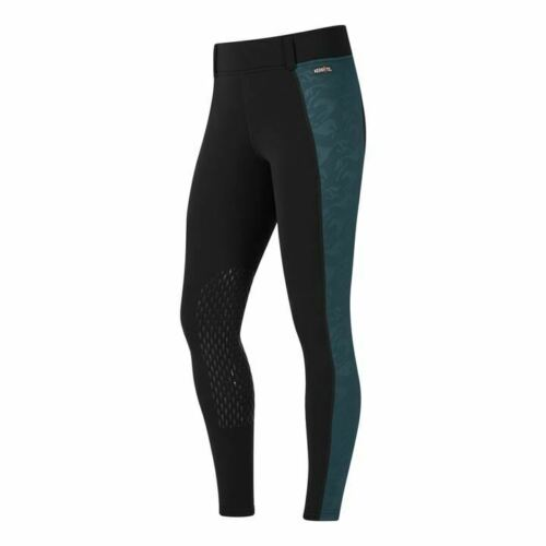 Kerrits Embossed Power Stretch Pocket Winter Riding Tights Knee Patch