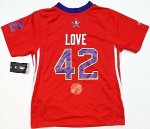 new arrival 12f34 19d90 Details about NEW Adidas 2014 NOLA NBA All Star West Kevin Love  Timberwolves Youth Jersey S