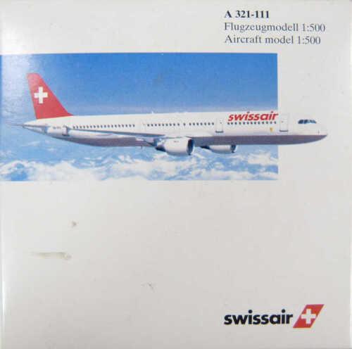Airbus a321-111 swissair Herpa 508612 1:500