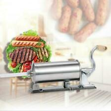 Horizontal Sausage Stuffer 48l Maker Meat Filler Commercial New Stainless Steel