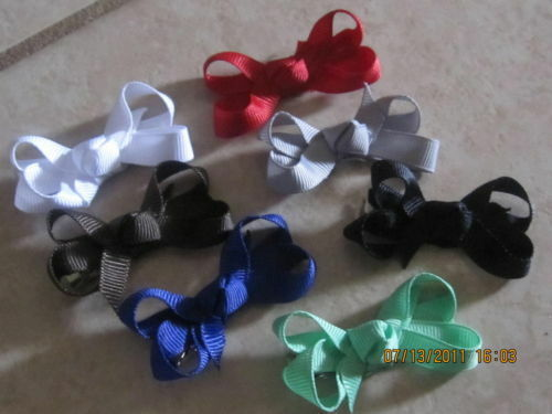 """BOUTIQUE GIRLS TODDLER SMALL HAIR BOW WITH KNOT IN CENTER 2/"""" ~U PICK COLOR!"""