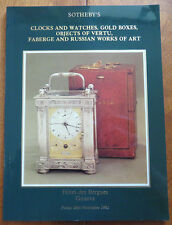 SOTHEBY'S CLOCKS AND WATCHES, GOLD BOXES, OBJECTS OF VERTU, FABERGE...(1982)