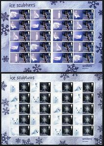 GB QEII Smiler Sheet ICE SCULPTURES Arts 2003 LS15/16 Superb MNH