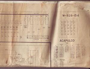 ACAPULCO-By-BALLY-1961-ORIGINAL-BINGO-PINBALL-MACHINE-SCHEMATIC-WIRING-DIAGRAM