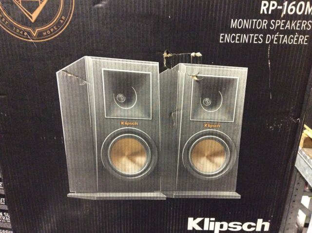 Klipsch RP-160M Bookshelf Speakers Pair Available In Cherry & Ebony B Stock