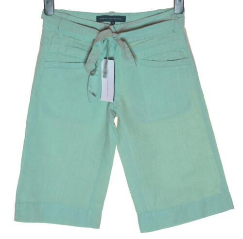 Bnwt Women/'s French Connection Linen Blend Shorts Belt RRP£55 New Green