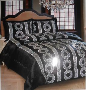 Scwarz/&Silber 230x250 cm Medusa Barock Bettüberwurf//Tagesdecke