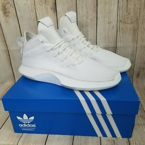 d84005586ae4 Adidas Crazy 1 Adv PK Primeknit White Basketball Shoes Men s Size 11 ...