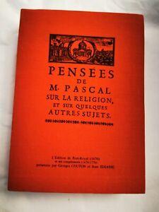 PENSÉES DE M. PASCAL SUR LA RELIGION, ET SUR QUELQUES AUTRES SUJETS