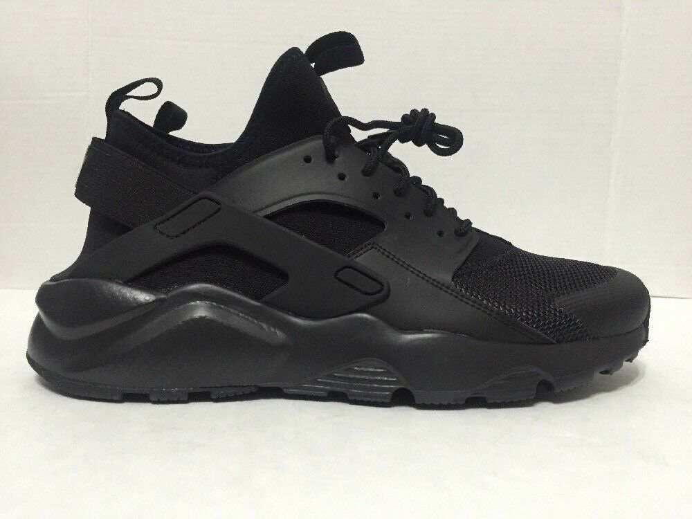 Nike Air Huarache Ultra Running shoes Triple Black 819685-002 Mens Size 10-11
