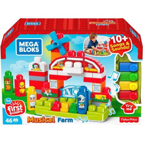 NEW Mega Bloks Musical Farm Song/&Sound Building Playset Birthday Christmas Gift