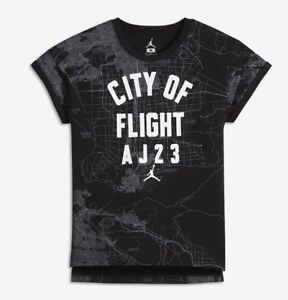 634b7fdff81 Nike Air Jordan Girls City of Flight Top Tee T-Shirt Size Large | eBay
