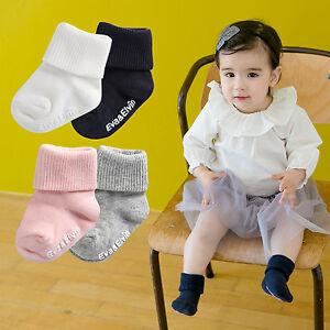 "Vaenait Baby Toddler Socks Kids Girls Boy Anti Slip Boots 4 Set ""Triple"" 0M-8T"