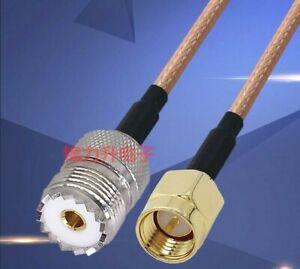 10m-RF-Coaxial-Cable-Adaptateur-Uhf-Femelle-A-Male-SMA-Cuivre-Connecteur