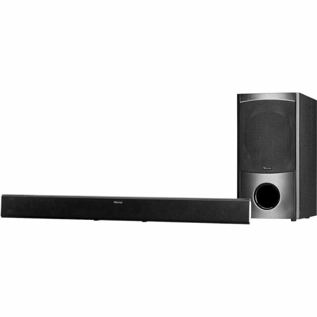 Nakamichi NK6 300-Watt Bluetooth 2.1 Ch Soundbar Speaker with Wired Subwoofer