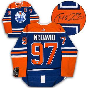 Connor McDavid Edmonton Oilers Signed Blue Alternate Adidas Authentic Pro Jersey
