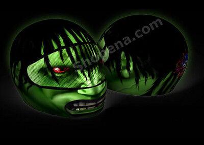 The Hulk Helmet Cover Agressive Rider Motorcycle Full Face Skin Street Bike NEW