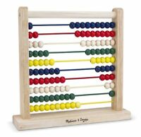 Melissa And Doug Classic Wooden Abacus , New, Free Shipping