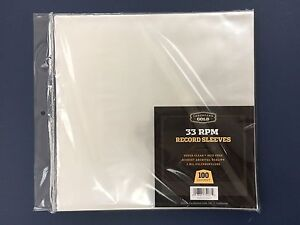 100-Clear-Poly-Plastic-LP-Outer-Sleeves-2-Mil-12-034-Vinyl-33rpm-Record-Album-Cover