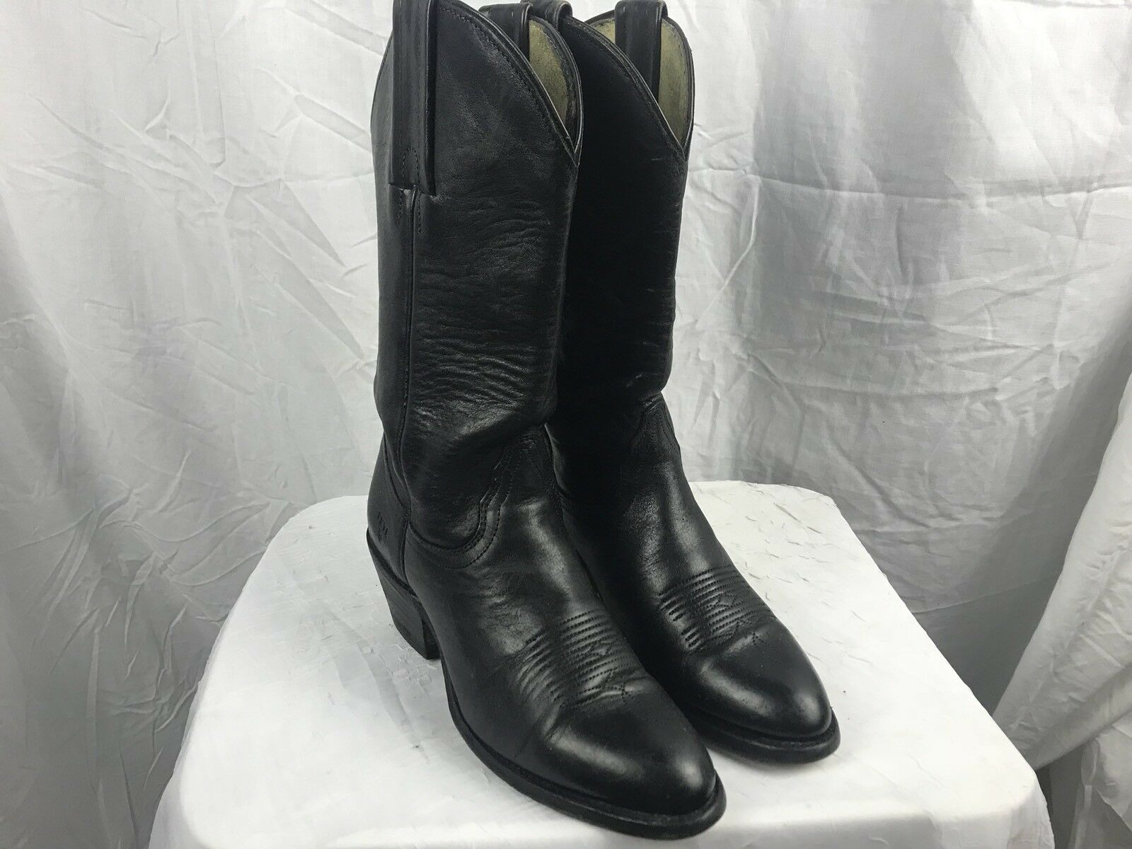 Men's/Women's Black Leather Womans 6.5B Cowboy Boots Long-term reputation excellent Personalization trend