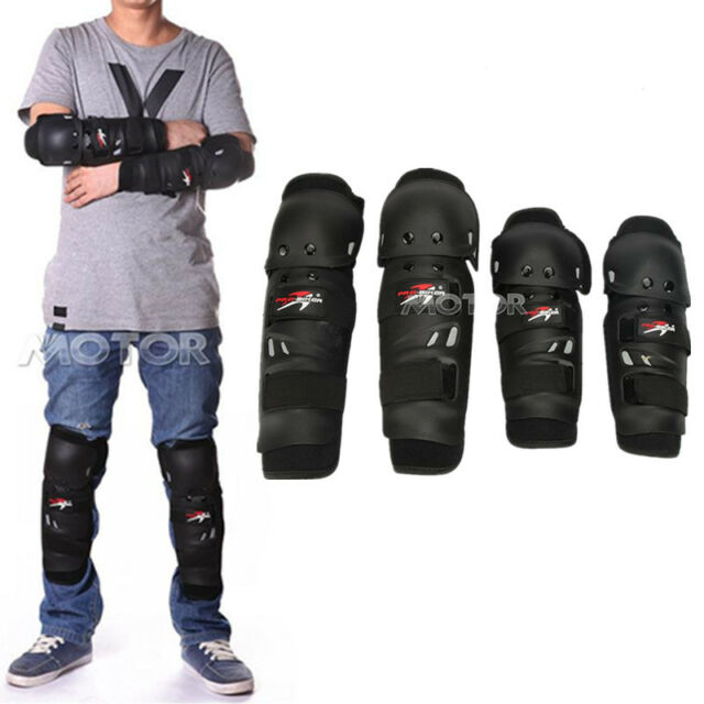 Knee Shin Elbow Guard Pads Protector For Motorbike Cycling MTB Ski Snowboard