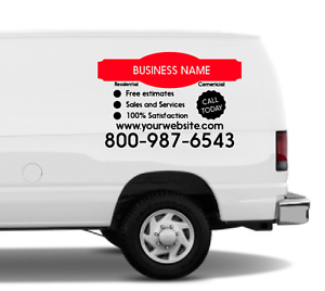 a88886167f Van Lettering Business Car Sign Kit - Vinyl Window Decal Truck VL1 ...
