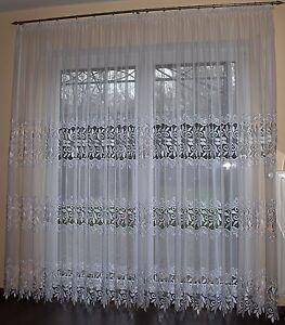exklusive hochwertige gardine makramee spitze schneewei ma anfertigung ebay. Black Bedroom Furniture Sets. Home Design Ideas