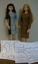 "Princess Seamed Dress Pattern 22AM02 For Tonner's 22"" American Model Dolls"