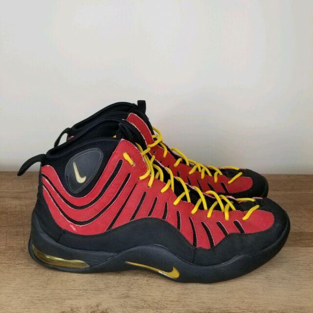 Super baratas patrones de moda nueva alta calidad 1997 OG Nike Air Bakin' Varsity Red White Black Yellow Max 1 ...