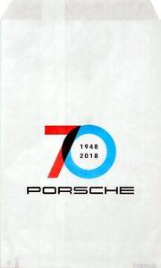 10-pezzi-originali-Porsche-sacchetto-70-ANNI-BUSTA-PORSCHE-23-x-15-cm-Paper-Bag