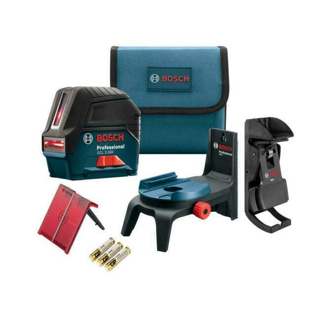 Bosch GCL 2-160 S-RT Self-Leveling Cross-Line Laser with Plumb Points for sale online