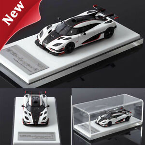 New Arrival VMB 1:64 Scale Koenigsegg One:1 White Car Model Limited Collection