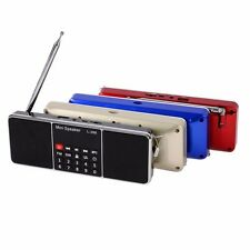 1*Mini Portable LCD FM Radio Stereo Speaker MP3 Music Player Micro SD TF USB AN