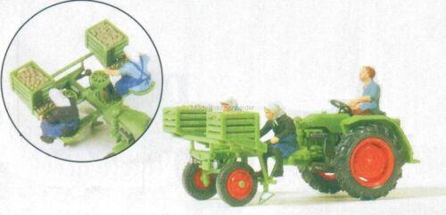 H0 Preiser 17935 Porteur de L'Appareil 3 Figurines. Modèle Déjà Assemblé